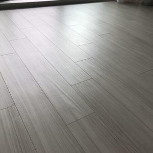拭いた後の床