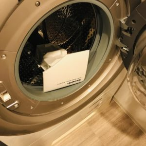洗剤投入口の乾燥